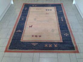 Medium sized rug for sale , 100% wool, 133cm x 190cm