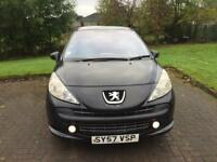 2007. Peugeot 207 HDI. 5 doors black , diesel,,, full tax only £20 yrs , drive great