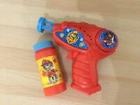 New Kids Paw Patrol Bubble Gun with Bubbles