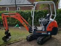 Kubota kx36 mini digger low hours