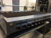 Refurbished Wolf 10 Burner Chargrill 1.5m with Stand, peri peri grill, radiant grill