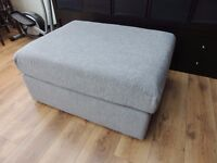 Large Grey Footstall Poufe extra seat sofa extension fabric RRP £140