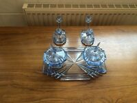 Art Deco Glass Dressing Table set