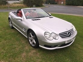 55 REG MERCEDES BENZ SL CLASS 3.7 SL350 2DR-GREAT LOW MILEAGE CAR-HEATED RED LEATHER-TOP SPEC