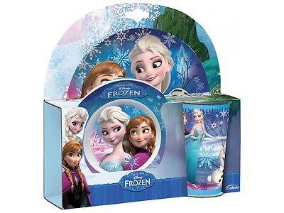 29957 Disney Frozen - Eiskönigin Kinder Geschirr Melamin Frühstück 3-tlg.