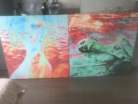 2 Beautiful colorful paintings MAKE AN OFFER