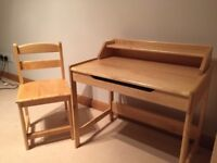 Great Little Trading Company Wooden Children's Desk (with drawer) and Chair