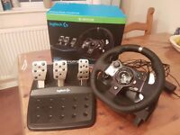 Logitech G920 steering wheel and pedals xbox one / pc