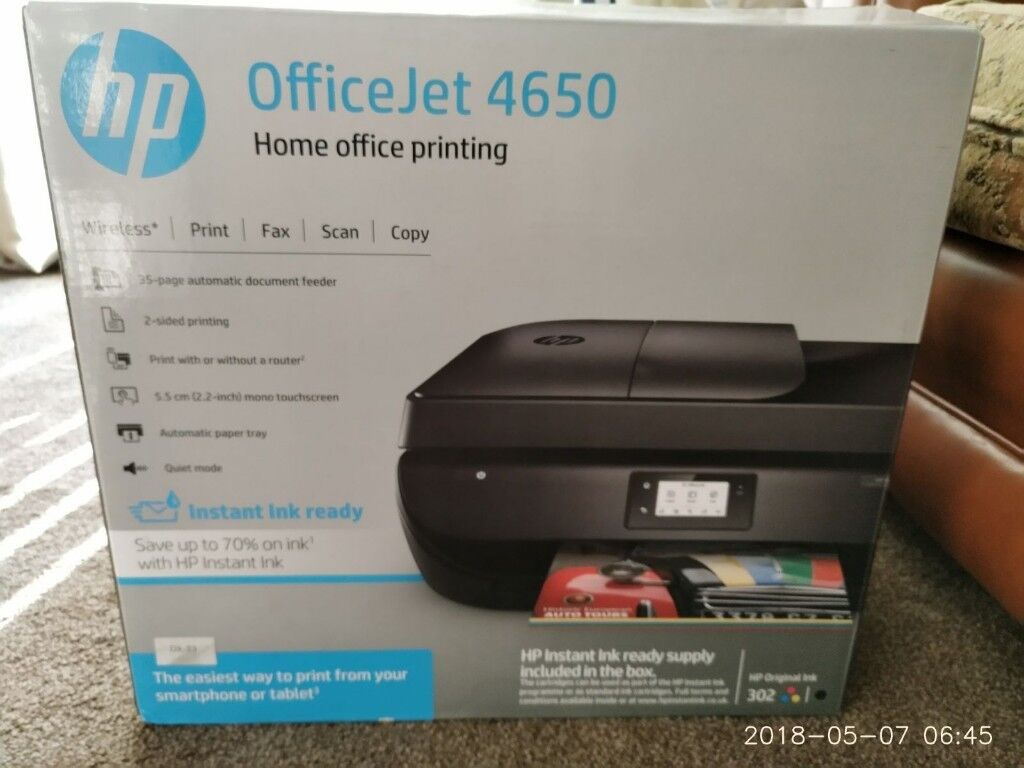 HP OfficeJet 4650 All-in-One Printer: Fairly new, Perfect condition | in  Brownhills, West Midlands | Gumtree