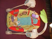 baby swing chair with 6 play music