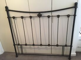 REDUCED! Wrought iron bed head suitable for queen, double and king sized beds