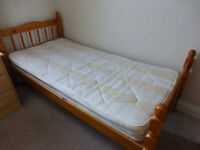 3ft Single Bed for sale. Mattress NOT included. Very good, clean condition. £30 ono for quick sale.