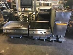 Restaurant closed ! Gas 30 garland grill , 36 garland griddle , frymaster fryer and 2 burner stove