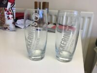 Set of two Pickerings Gin glasses