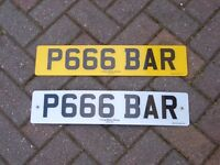 Number Plate P666 BAR