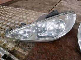 Peugeot 206 cc headlights