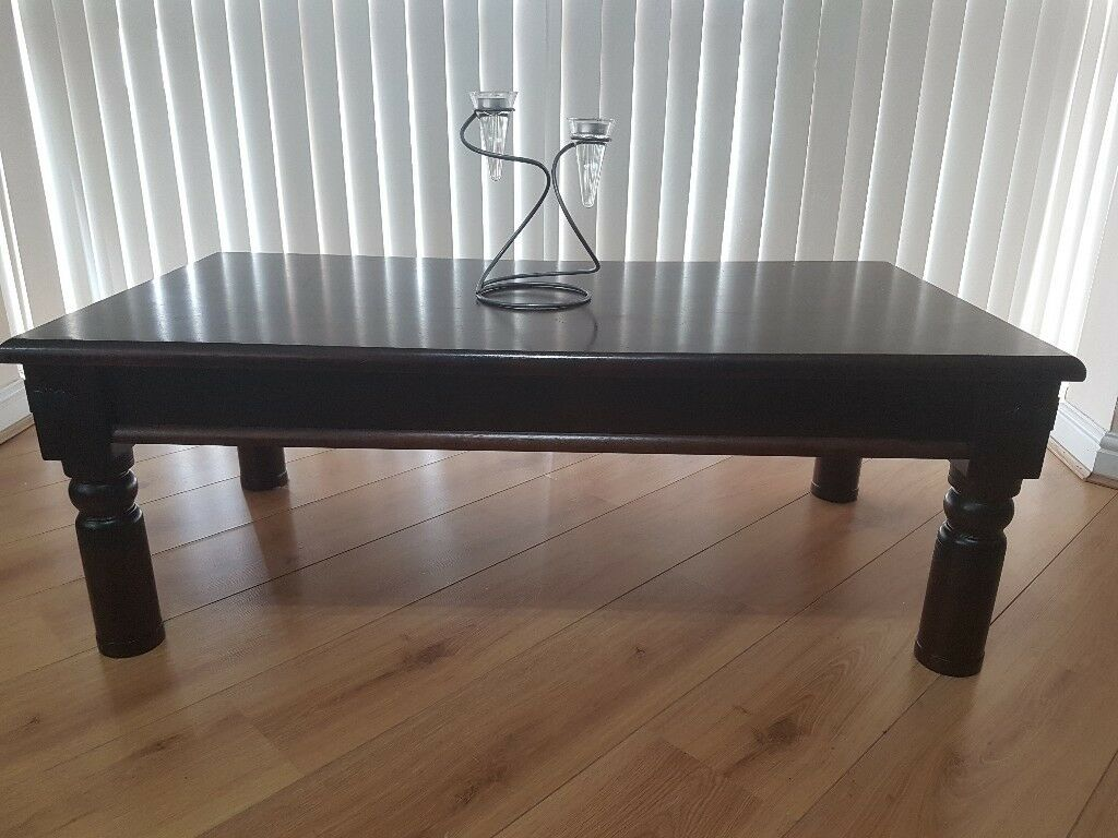 Dark Wood Coffee Table From Homebase Moroccan Range In Selby North Yorkshire Gumtree