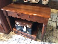 SMALL DESK ONE DRAWER SOLID WOOD DRESSING TABLE