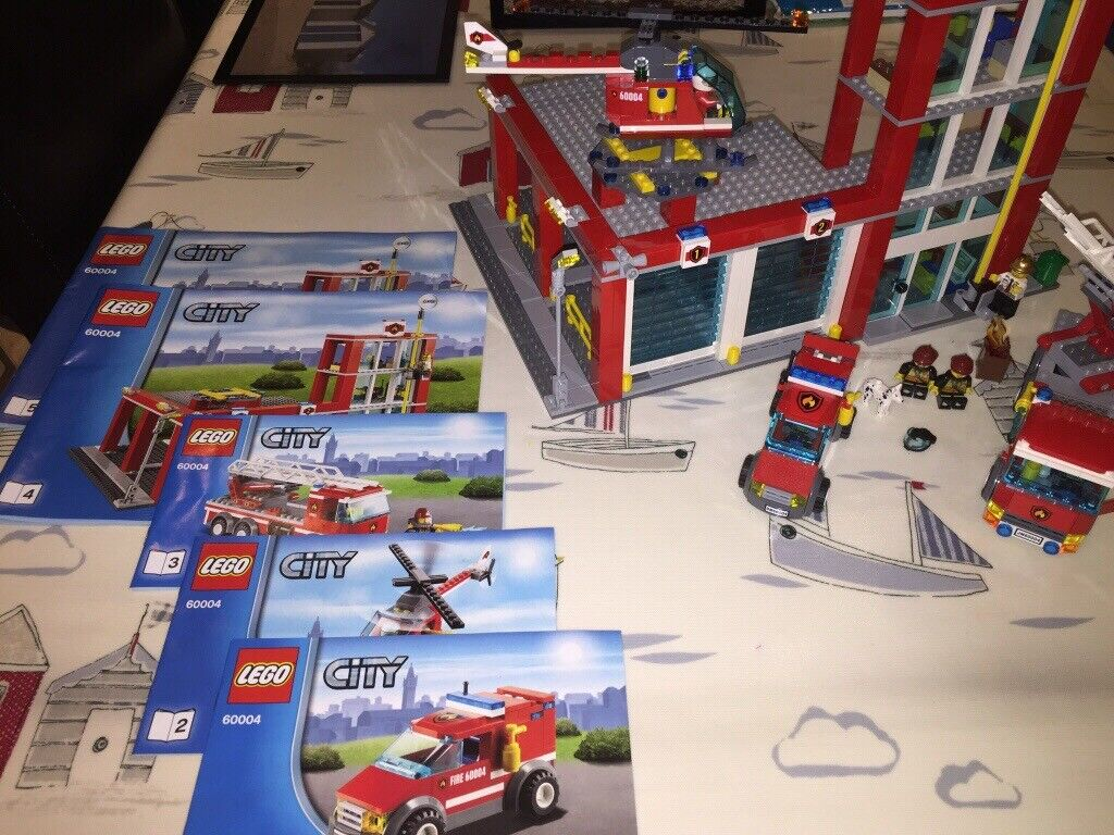 Fantastic LEGO City Fire Station Set 60004 complete and with instructions  and Minufigures  | in Gloucestershire | Gumtree