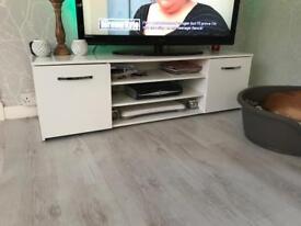 White tv unit/stand