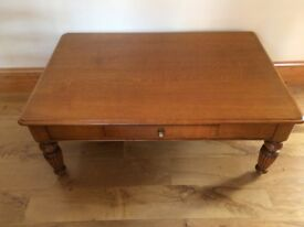 Large Wood coffee table with one draw