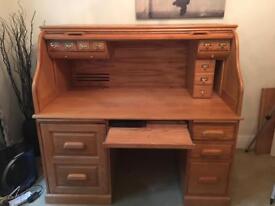 "Roll Top Computer Desk 57"""