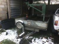 BATESON TWIN AXLE TRAILER WITH LIFTING ARMAND WINCH