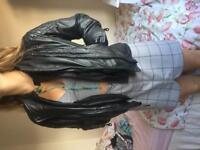 Harley davidson fxrg leather motorbike jacket