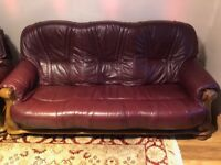 3+2+1 Set Leather Sofa - Good Condition (from DFS)
