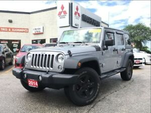 2014 Jeep Wrangler Unlimited Sport (6-SPEED MANUAL! AUXILIARY!)