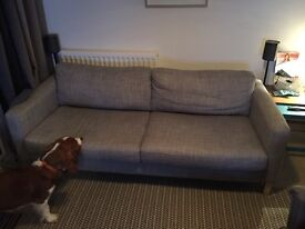 Ikea grey sofa, only 2 years old