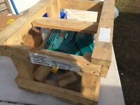 ELECTRIC MOTOR BROOK CROMPTON 3PHASE NEW STILL IN PACKING CRATE
