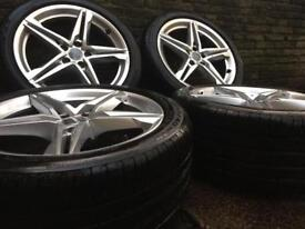 """Audi a4 s line b9 b8 18"""" alloys with tyres vw 5x112"""