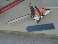 petrol chain saw 18 inch