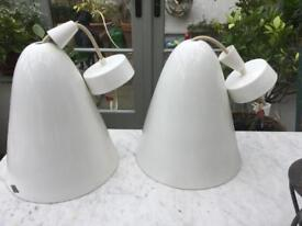 Two Hector btc porcelain pendant lights, extra large