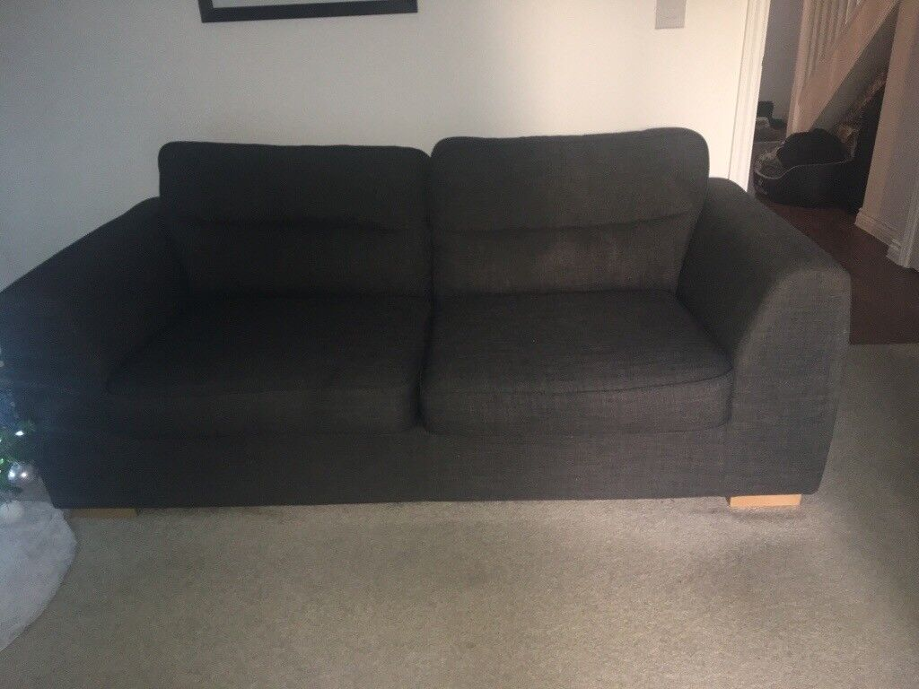 3 seater and 2 seater charcoal sofa | in dereham, norfolk | gumtree