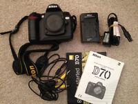 Nikon D70 6.1MP Digital SLR Camera including 8gb compact flash £35