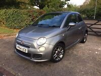64 PLATE FIAT 500 GREY 1.2 3 DR PETROL HATCHBACK 4,000 GENUINE MILES CAT C EXCELLENT CONDITION