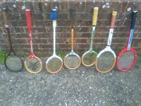 7 old types of squash rackets