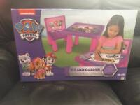 Paw patrol sit and colour activity table