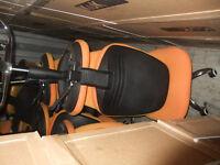 Orange/Black Office Wheelie Chairs TO GO ASAP