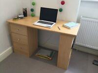 Argos Malibu 3 Drawer Desk (oak effect)