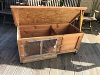 Guinea pig hutch with new cover