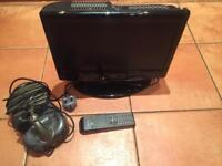"16"" Portable Television with Integral DVD Player + Indoor Antenna"
