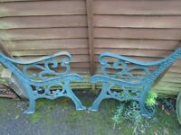 cast iron bench ends heavy