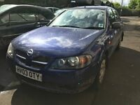 2003 Nisaan Almera S 1.5 Petrol 5dr Breaking For Spares