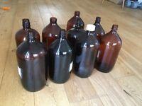 Brown brewing bottles
