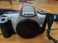 Canon EOS 300 camera with two lenses and two filters, hardly used