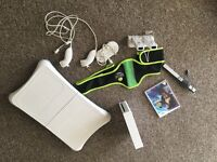 Nintendo Wii with Zumba and wifi fit balance board