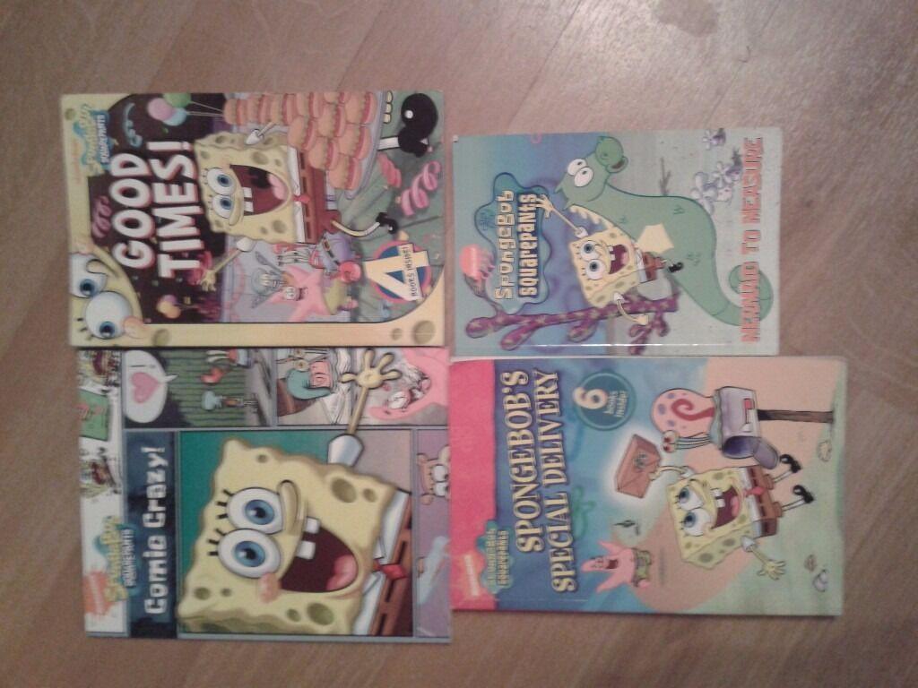 spongebob squarepants books x 4 all great condition in saffron